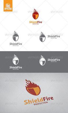 Shield Fire  - Logo Design Template Vector #logotype Download it here: http://graphicriver.net/item/shield-fire-logo-template/3347738?s_rank=907?ref=nexion