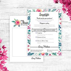 Floral Lula Thank You Card Free Customize Care Card