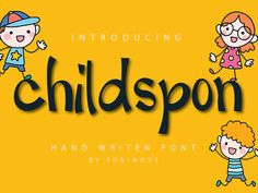 childspon is cute and playful, but also elegant. This versatile script font has a wide range of applications ranging from greeting cards to headlines and is guaranteed to add a magical touch to your next design. Script Fonts, Cool Fonts, Icon Font, The Creator, Greeting Cards, Medical, Range, Touch, Templates