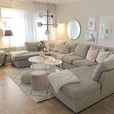 Beautiful living room inspiration from 🙌🏼👌 How was your thursday? I've had a busy day with lots of input. 😍 This afternoon… Living Room Sofa Design, Living Room Decor Cozy, Living Room Sectional, New Living Room, Living Room Interior, Living Room Designs, Beautiful Living Rooms, Living Room Inspiration, Home Decor