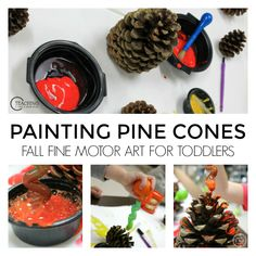 Pine Cone Fine Motor Activity for Toddlers