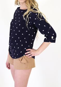 Elephant Showers Blouse :} give the shorts some length but love this shirt.