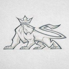 Risks when embroidering Russian Point: monograms to stick … – Graffiti World Logo Sketches, Drawing Sketches, Cool Drawings, Drawing Tips, Doodle Drawing, Graffiti, Mascot Design, Lion Art, Art Graphique