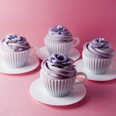 cantidades para hacer 4 cupcakes de chocolate y vainilla.