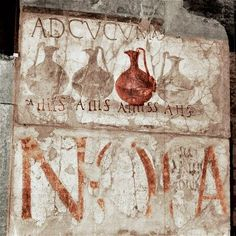 Photographic Print: Roman wine shop sign, Herculaneum, Italy by Werner Forman : Ancient Pompeii, Pompeii And Herculaneum, Ancient Ruins, Ancient Greece, Ancient Art, Ancient History, Ancient Roman Food, Fresco, Art Romain