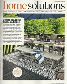 Cutting Edge Stencils feature in @thisoldhouse magazine! Starring our Augusta Tile stencil from Cutting Edge Stencils