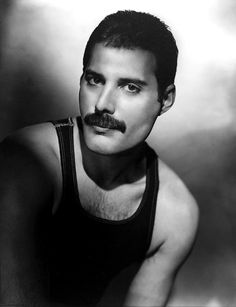 Freddie Mercury , a wonderful gentleman,who looked good both with and without facial hair