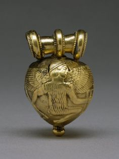 Title: Bulla with Daedalus and Icarus Date created: 5th century BC (Classical) Physical Dimensions: w2.55 x h4.05 x d2.6 cm Type: pendants Rights: Acquired by Henry Walters, 1930, http://creativecommons.org/licenses/by-nc-sa/3.0/ External Link: The Walters Art Museum Medium: gold Provenance: Said to be from Comacchio, near Ferrara; Sangiorgi [date and mode of acquisition unknown]; Henry Walters, Baltimore, 1930, by purchase; Walters Art Museum, 1931, by bequest. Place of Origin: Comacchio…