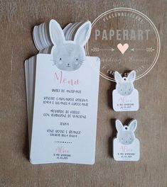 Alice, Letter Art, Cute Bunny, Menu, Place Card Holders, Christmas Ornaments, Holiday Decor, Birthday, Diy