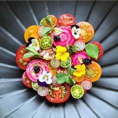 Tomato salad by @royalebrat #TheArtOfPlating