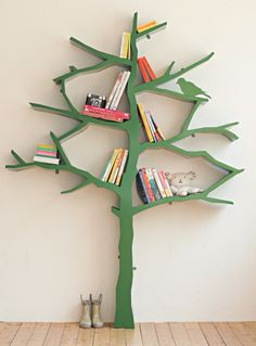 This would look great in our office! // A tree bookshelf, from the new book Bookshelf.