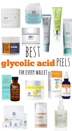 The best glycolic acid peels, pads, masks and yes: I have an option for every wallet (starting with $12!) ;-)