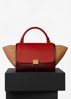 04841196b00c Small Trapeze Bag in Multicolour Calfskin Satin and Baby Grained Calfskin -  Céline サマーコレクション,