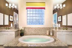 217 Copper Trace New Braunfels, Texas Texas Homes, New Homes, Corner Bathtub, Master Bath, House Plans, Copper, How To Plan, Mirror, Bathrooms