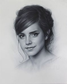 Emma Watson drawing portrait by DRY BRUSH by Drawing-Portraits.deviantart.com on @deviantART