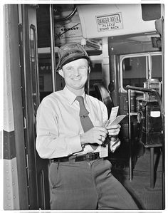 (1955) MCL No. 462 - Operator K.J. Rogers at the West Hollywood Division.