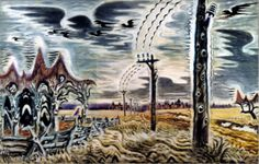 """Charles Burchfield, """"Song of the Telegraph"""" (1917)"""