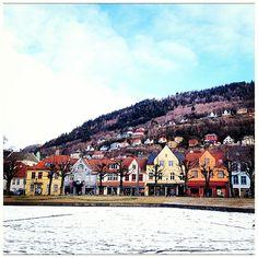 Houses in Kaigaten - Bergen. (Norway)