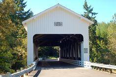 Dorena Covered Bridge. Built in 1949. Outside of Eugene, Oregon