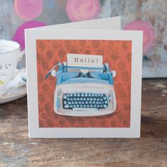 A friendship greeting card featuring the word by GabriellasShop