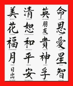 Meaning of the most common chinese characters