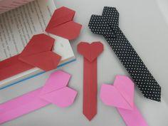 Marca página coração 4 - Origami em tecido - Orinuno