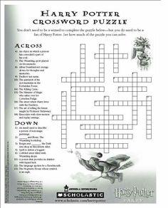 Harry's Crossword puzzle