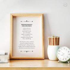 Irish Children Blessing Print Child Blessing Prayer Luck | Etsy Printing Services, Online Printing, Good Luck Gifts, Heart Songs, Irish Blessing, International Paper Sizes, Laughter, Prayers, Blessed