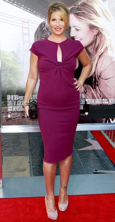 Christina Applegate in form-fitting style / pinned for BabyBump, the #1 mobile pregnancy tracker / #pregnancy #maternity