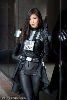 Enlace permanente de imagen incrustada Cosplay Outfits, Cosplay Girls, Cosplay Costumes, Cosplay Ideas, Meninas Star Wars, Darth Vader Cosplay, Female Darth Vader Costume, Darth Maul, Star Wars Stormtrooper