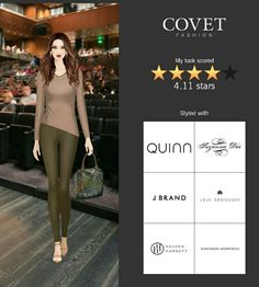 Covet Fashion Game. Look: Make It Work. Tasmin Tote by Hayden-Harnett and Slider Necklace by Lele Sadoughi