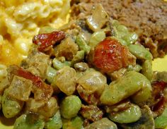 Best Lima Beans You'll Ever Eat! (maybe sub other beans? Vegetable Sides, Vegetable Side Dishes, Lima Bean Recipes, Beans Recipes, Dip Recipes, Chicken Recipes, Dinner Recipes, Side Dish Recipes, Limes