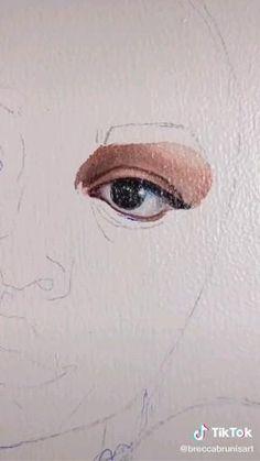 Watercolor Portrait Tutorial, Watercolor Art, Art Drawings Sketches Simple, Realistic Drawings, Art Plastique, Art Sketchbook, Portrait Art, Art Tutorials, Eye Painting