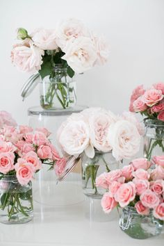 Pretty pink blooms: http://www.stylemepretty.com/living/2016/01/26/party-idea-diy-bouquet-bar/