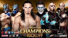 """WWE NIGHT OF CHAMPIONS LIVE-BLOG AND RESULTS   Neville & The Lucha Dragons vs. The Cosmic Wasteland  Considering that Stardust's finisher is still being called """"Queen's Crossbow"""" are we to assume he and Stephen Amell will lock up again soon? Perhaps one-on-one even? I mean I feel like that's really what's still fueling The Cosmic Wasteland story. Not that I object to this pre-show feud. It's a perfectly serviceable program and it's not like I'm tired of seeing it like I am watching Orton and…"""