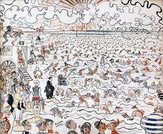 James Ensor - The Baths of Ostend 1890