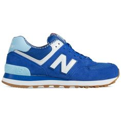 New Balance WL574 Sneakers (110 CAD) ❤ liked on Polyvore featuring shoes, sneakers, chaussure, nb, suede sneakers, retro shoes, round toe shoes, retro sneakers and rubber sole shoes