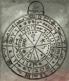 "Pergamon incantation bowl (Gnostic talisman disc), from Sir Wallis Budge's ""Amulets and Talismans"""