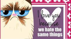 nightman guyatt671 twitter grumpy cathash tagsvalentines - Grumpy Cat Valentine