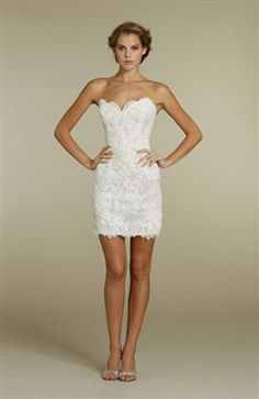 short fitted wedding dress | perfectly short, laced up back ...