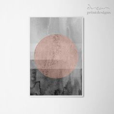 Printable Grey and Pink Poster, Geometric Abstract Print, Pink Grey Art, Abstract Wall Decor, Modern Print, Geometric Art, Instant download