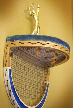 Tennis racquet shelf! - what to do with old rackets#Repin By:Pinterest++ for iPad#