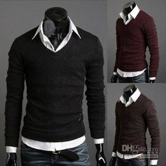 Wholesale Sweaters - Buy Mens Cashmere Sweaters Mens Black Sweaters Men Fashion Clothing Wool Sweaters #MS154, $20.45 | DHgate