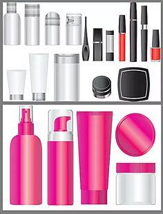 化妆品空白包装矢量素材