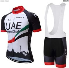 2017 UAE Team Pro Cycling Jersey Short Sleeve Bicycle Clothing Sportswear Cycling Clothing Unisex Breathable Quick Dry