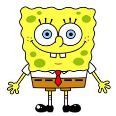 How to draw Spongebob Squarepants cartoon image