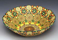 Polymer clay bowl by Karin Noyes