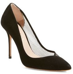 $450, London Vida Suede Mesh Pointy Toe Pump by Kurt Geiger. Sold by Nordstrom. Click for more info: http://lookastic.com/women/shop_items/139255/redirect