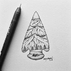 #arrowhead #mountains #illustration by samlarson