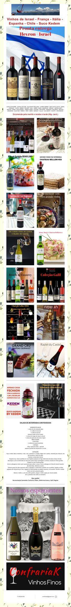 Vinhos de Israel - Suco Kedem Mouton Cadet, Laurent Perrier, Israel, Chile, Juice, Wine Pairings, Spain, Italia, Chili